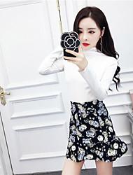 знак NETT 2017 весной новый футболка + юбка костюм цветочный