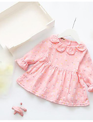 Baby Casual/Daily Dress,Rayon Spring Pink Yellow
