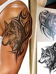 1 Tatuajes Adhesivos Series de Animal Series de Tótem Waterproof 3DHombre Juventud flash de tatuaje Los tatuajes temporales
