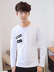 Hitz cotton T-shirt men's long-sleeved cotton embroidered cloth clothes compassionate men