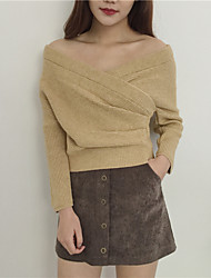 Real shot! 2017 spring Korean wild solid color light cooked style sexy V-neck knit sweater Slim