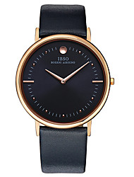Men's Fashion Watch Water Resistant / Water Proof Quartz Genuine Leather Band Charm Casual Black Brown