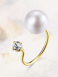 Ring Pearl Imitation Pearl Fashion Silver Jewelry Daily Casual 1pc