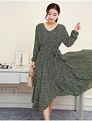 знак пятно длинный участок европейского платья ноги моды меньше шрифт huaqun пятно маленький цветочный платье весной