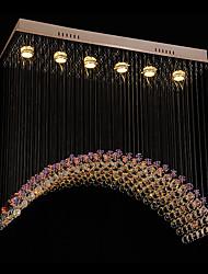 Montage du flux ,  Contemporain Plafonnier pour Ilôt de Cuisine Chrome Fonctionnalité for Cristal LED Designers MétalSalle de séjour