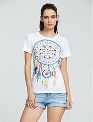 Women's Print Fashion Individuality Simple Street chic T-shirt,Round Neck Short Sleeve