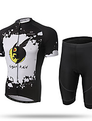 XINTOWN® Fashion Men Cycling Jersey Set Bike Short Sleeve Clothing Shirts  Shorts Night Owl
