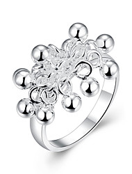 Beads Jewellery Classic Silver Plated Ring with Multi Grape Beads for Women