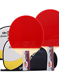 Table Tennis Rackets Ping Pang Rubber Short Handle Pimples Indoor Leisure Sports