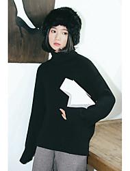 знак волосатую новую рубашку грунтовки зимой вязать свитер корейской версии битой рукав высокий воротник свитера женщин