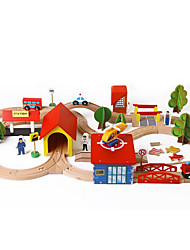 Züge Spielzeuge 1: 100 Holz Regenbogen