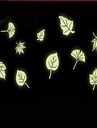 Cartoon Leaves Luminous Light Switch Stickers Vinyl Material Home Decoration