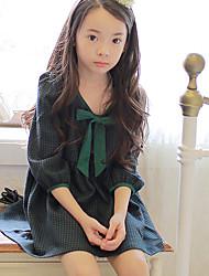 Girl's Solid Dress,Cotton Summer Half Sleeve