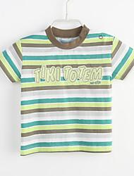 T-shirt Bambino Casual Monocolore A strisce-Cotone-Estate-
