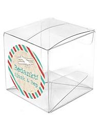 6 Шт./набор Фавор держатель-Кубик ПластикКоробочки Мешочки Сувенирные шкатулки Пакеты для печенья Конус для сувениров Горшки и банки для