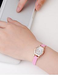 Mulheres Relógio Esportivo Quartzo / Aço Inoxidável Banda Vintage Preta Branco Vermelho Marrom RosaBranco Preto Marron Vermelho Pêssego