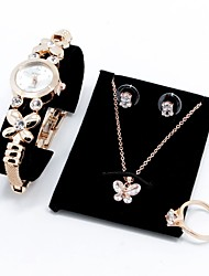 Gold Zircon Butterfly Bride Bridesmaid Gifts Jewelry Sets Watches Classic Creative Lovers Wedding Anniversary Congratulations