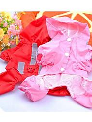 Hunde Regenmantel Rot Rosa Hundekleidung Frühling/Herbst einfarbig Sport