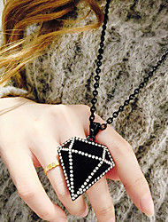 Women's Pendant Necklaces Alloy Simulated Diamond Fashion Black Jewelry Daily Casual 1pc