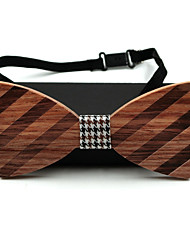 Men Work Casual Bow Tie,Acrylic Solid,Brown All Seasons