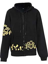 Inspirado por One Piece Cosplay Animé Disfraces de cosplay Trajes Cosplay Estampado Negro Abrigo