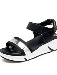 Women's Sandals Summer Fall Slingback PU Synthetic Office & Career Party & Evening Dress Platform Magic Tape