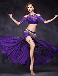 Belly Dance Dresses Women's Performance Lace Lace 2 Pieces Half Sleeve Natural Top / Skirt