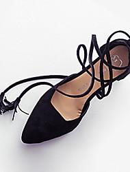 Damen-High Heels-Kleid Lässig-PU-Stöckelabsatz-Komfort-Schwarz Braun