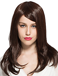 Kinky Straight Wig Synthetic Fiber Wig Costume Cosplay Wig Medium Long Party Wig Hairstyle