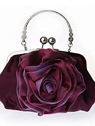 L.WEST Women lightweight portable flowers package joker bride bag leisure bag satin bag