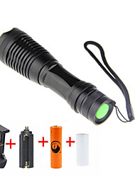 UKing ZQ-X949#-EU CREE XML T6 2000LM Adjustable Focus Flashlight Torch Kit with 1*18650 and Charger