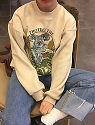 знак Dongguk дверь покупке мило коала мультфильм напечатаны круглый свитер шеи хеджирование 2834