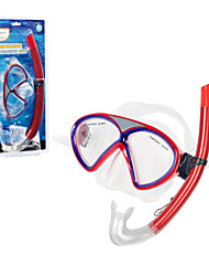 Diving Masks NO TOOLS Required Diving / Snorkeling Swimming PVC Red Blue