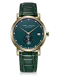 Women's Dress Watch Fashion Watch Swiss Quartz Calendar Stopwatch Quartz Genuine Leather Band Charm Casual Green