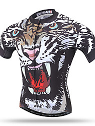 XINTOWN® Men's Summer Short Sleeve Mountain Cycling Jersey Road Bike Jersey Novelty Cycling Wear Angry Tiger