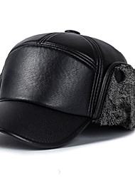 British Winds Beckham Berets Lattice Printing Leather Outdoors Thickening Protect the Ears Warm Casquette Hat