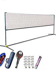 Badminton Net Badminton Rackets Feather Shuttlecocks Badminton Posts and Net Nondeformable High Elasticity Durable for Carbon Fiber