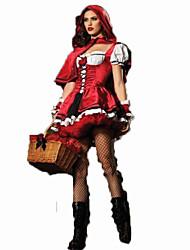 Costumes de Cosplay Sorcier/Sorcière Fête / Célébration Déguisement d'Halloween Rouge Couleur Pleine Carnaval FémininMousseline Satin