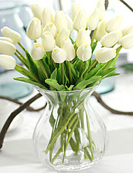 PU Tulip Flower Artificial Flower Eco-friendly Material Wedding Decorations-10Piece/Set Spring Summer Fall Winter Non-personalized