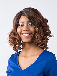 воодушевляющее эфирный смешанный цвет привлекательным вьющиеся волосы синтетический парик