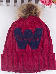 mulheres de inverno de ondulação ocasional w lã carta feito malha impressa chapéu de lã