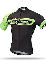 XINTOWN®  Men's Summer Short Sleeve Green Mountain Cycling Jersey Road Bike Jersey Novelty Cycling Wear