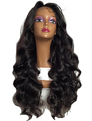 8A Long Wavy Full Lace Wigs Human Hair With Baby Hair For Women Glueless Full Lace Brazilian Virgin Hair Wigs