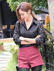пятно @ 2017 весной новый европейский стиль шифон рубашки корея покупке большого размера с длинными рукавами рубашки женщина