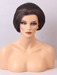 a buon mercato parrucche per le donne in bianco e nero parrucca capelli lisci breve naturale e confortevole