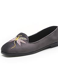 Women's Flats Comfort PU Spring Casual Office & Career Comfort Flat Heel Black Gray Blushing Pink Flat