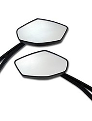 Motorcycle Large Displacement Universal Round Bar End Convex Mirrors Inceased Vision For Black Back Mirror