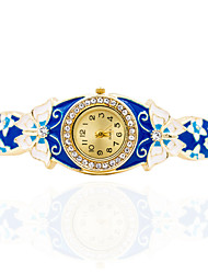Fashion Watch Quartz Leather Band Blue