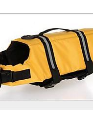 Cães Colete Salva-Vidas Amarelo Azul Côr Camuflagem Roupas para Cães Verão Cor Única Esportivo