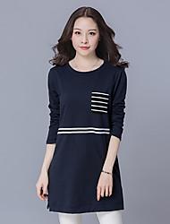знак весной новый жира мм длинный участок больших размеров женщин с длинным рукавом блузки дикий случайные рубашка